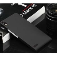 Пластиковый тонкий чехол для Huawei Ascend P6 Черный