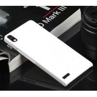 Пластиковый тонкий чехол для Huawei Ascend P6 Белый