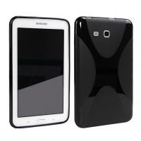 Силиконовый матовый X чехол для Samsung Galaxy Tab E 9.6 Черный