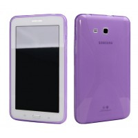 Силиконовый матовый X чехол для Samsung Galaxy Tab E 9.6 Фиолетовый