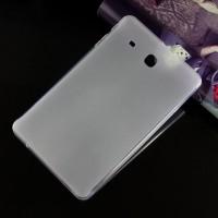 Силиконовый матовый полупрозрачный чехол для Samsung Galaxy Tab E 9.6 Белый
