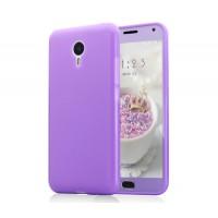 Силиконовый матовый непрозрачный чехол для Meizu M2 Note Фиолетовый