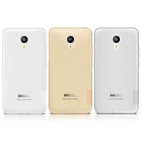 Силиконовый матовый полупрозрачный премиум чехол повышенной защиты для Meizu M2 Note