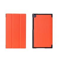 Чехол флип подставка сегментарный на поликарбонатной основе для ASUS ZenPad C 7.0 Оранжевый