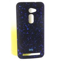 Пластиковый матовый дизайнерский чехол с голографическим принтом Звезды для Asus Zenfone 2 5 Синий