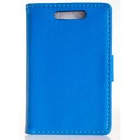 Чехол книжка-подставка для Nokia Asha 503 Голубой