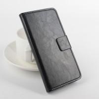 Чехол портмоне подставка с магнитной защелкой на силиконовой основе для Asus Zenfone 2 5 Черный