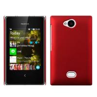 Пластиковый чехол серия Metallic для Nokia Asha 503 Красный