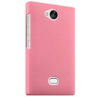 Пластиковый чехол серия Metallic для Nokia Asha 503 Розовый