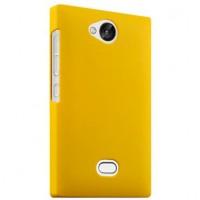Пластиковый чехол серия Metallic для Nokia Asha 503 Желтый