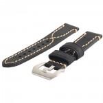 Кожаный винтажный ремешок с прошивкой ручной работы, металлической пряжкой и металлическим коннектором для Apple Watch 38mm