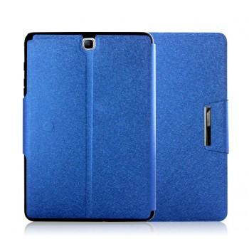 Текстурный чехол подставка с магнитной защелкой и внутренними отсеками на силиконовой основе для Samsung Galaxy Tab A 9.7