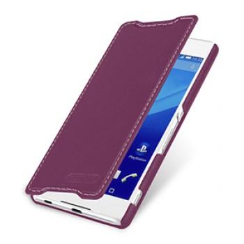 Кожаный чехол горизонтальная книжка (нат. кожа) для Sony Xperia Z3+