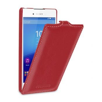 Кожаный чехол вертикальная книжка (нат. кожа) для Sony Xperia Z3+