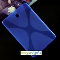 Силиконовый матовый X чехол для Samsung Galaxy Tab S2 8.0 Синий