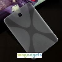 Силиконовый матовый X чехол для Samsung Galaxy Tab S2 8.0 Серый
