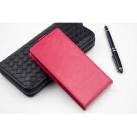 Клеевой чехол вертикальная книжка с магнитной застежкой и внутренним карманом для Megafon Login+ Пурпурный