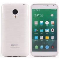 Силиконовый текстурный полупрозрачный чехол для Meizu M1 Note Белый