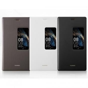 Оригинальный чехол смарт флип на пластиковой основе с окном вызова для Huawei P8