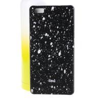 Пластиковый матовый дизайнерский чехол с голографическим принтом Звезды для Huawei P8 Lite Белый