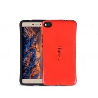 Силиконовый эргономичный непрозрачный чехол с нескользящими гранями для Huawei P8 Lite Красный