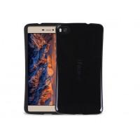 Силиконовый эргономичный непрозрачный чехол с нескользящими гранями для Huawei P8 Lite Черный