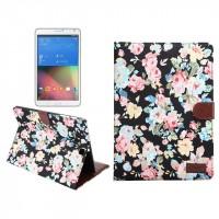 Текстурный чехол подставка с внутренними отсеками для Samsung Galaxy Tab S2 9.7 Черный