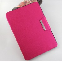 Текстурный чехол подставка с внутренними отсеками и магнитной застежкой для Samsung Galaxy Tab S2 9.7 Пурпурный