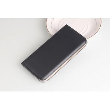 Чехол портмоне на пластиковой транспарентной основе для Samsung Galaxy S6 Edge