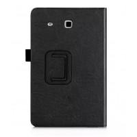 Чехол подставка с рамочной защитой и внутренними отсеками для Samsung Galaxy Tab E 9.6 Черный