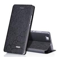 Текструный чехол смарт флип подставка на силиконовой основе для Huawei P8 Lite