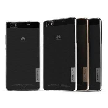 Силиконовый матовый полупрозрачный чехол для Huawei P8 Lite