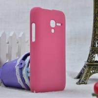 Пластиковый матовый непрозрачный чехол для Alcatel One Touch Pop D3 Розовый