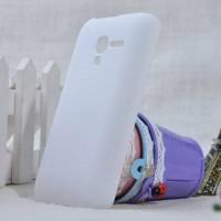 Пластиковый матовый непрозрачный чехол для Alcatel One Touch Pop D3 Белый