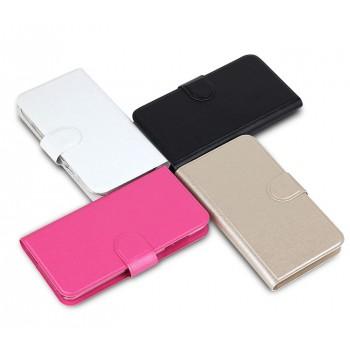 Чехол флип на пластиковой основе с внутренними карманами и магнитной застежкой для Alcatel One Touch Pop D3