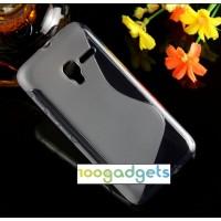 Силиконовый S чехол для Alcatel One Touch Pixi 3 (4.5) Серый