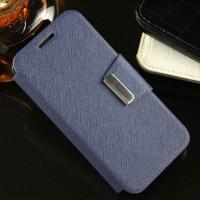Текстурный чехол флип подставка с магнитной застежкой для Alcatel One Touch Pixi 3 (4.5) Синий