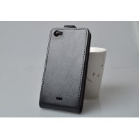 Чехол вертикальная книжка на пластиковой основе с магнитной застежкой для Explay Craft Черный