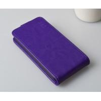 Чехол вертикальная книжка на пластиковой основе с магнитной застежкой для Explay Craft Фиолетовый
