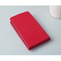 Чехол вертикальная книжка на пластиковой основе с магнитной застежкой для Explay Craft Красный