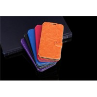 Чехол флип подставка с отделениями для карт на пластиковой основе ля Alcatel One Touch Pop 2 (5) Premium