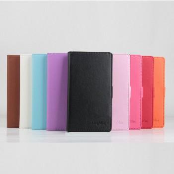Чехол портмоне подставка матовой текстуры на клеевой основе с магнитной застежкой для Highscreen Thor
