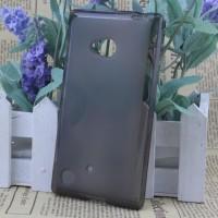 Силиконовый матовый полупрозрачный чехол для Nokia Lumia 720 Черный