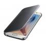 Двухмодульный пластиковый чехол флип с полупрозрачной акриловой крышкой с зеркальным покрытием для Samsung Galaxy S6