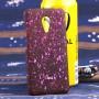 Пластиковый матовый дизайнерский чехол с голографическим принтом Звезды для Meizu MX5