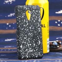 Пластиковый матовый дизайнерский чехол с голографическим принтом Звезды для Meizu MX5 Белый