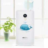 Силиконовый полупрозрачный дизайнерский чехол с принтом для Meizu MX5