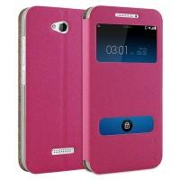 Чехол флип подставка с окном вызова и свайпом для HTC Desire 616 Пурпурный
