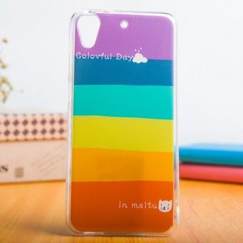 Силиконовый дизайнерский чехол с принтом для HTC Desire 626/628