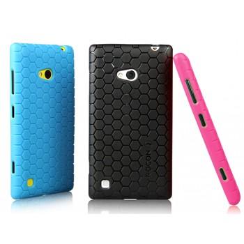 Силиконовый чехол повышенной защиты с рисунком соты для Nokia Lumia 720